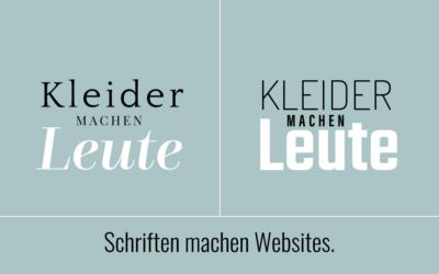 Schriften wirken: Welche Schriften für welche Website?