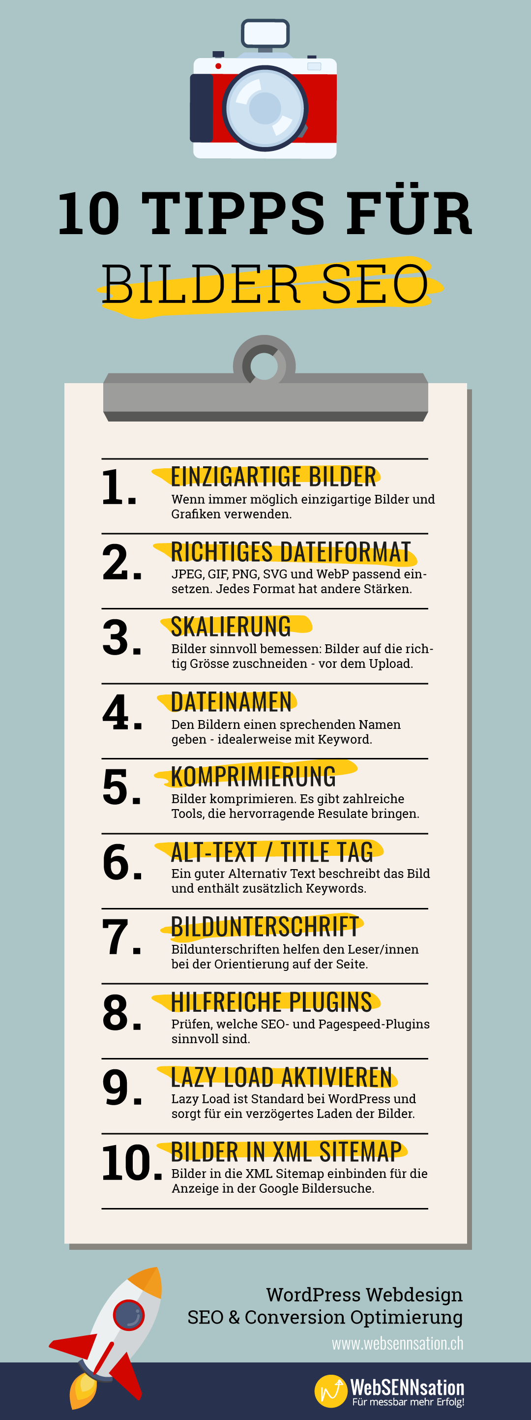 Checkliste Bilder SEO in WordPress